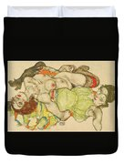 Female Lovers Duvet Cover