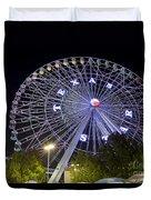Ferris Wheel At The Texas State Fair In Dallas Tx Duvet Cover