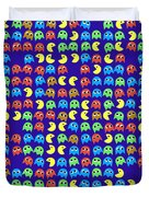 Game Monsters Seamless Generated Pattern Duvet Cover