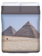 Great Pyramids Of Giza - Egypt Duvet Cover