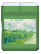 Green Wheat Fields, Auvers Duvet Cover
