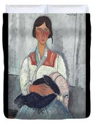 Gypsy Woman With Baby Duvet Cover