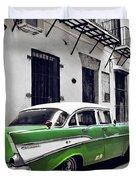 Havana, Cuba - Classic Car Duvet Cover
