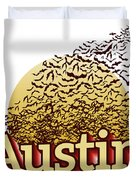 Bats Over Austin Duvet Cover