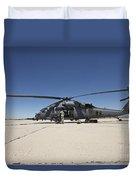 Hh-60g Pave Hawk With Pararescuemen Duvet Cover