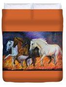 4 Horses Of The Apocalypse Duvet Cover