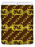 Iron Chains With Wood Seamless Texture Duvet Cover