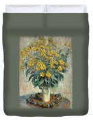 Jerusalem Artichoke Flowers Duvet Cover