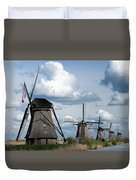 Kinderdijk Windmills Duvet Cover