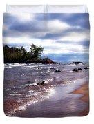 Lake Superior Shoreline Duvet Cover
