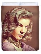 Lauren Bacall, Vintage Actress Duvet Cover