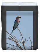 Lilac Breasted Roller On The Hunt Duvet Cover