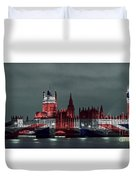 London Cityscape With Big Ben Duvet Cover