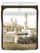 Louisiana Monument, 1904 World's Fair Duvet Cover