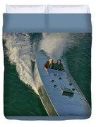 Mercury Race Boat Duvet Cover