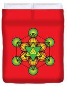 Metatron's Cube With Merkaba Duvet Cover