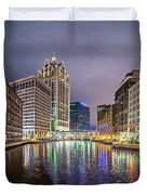 Milwaukee Wisconcin City And Street Scenes Duvet Cover