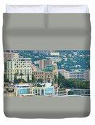 Monte Carlo Cityscape Duvet Cover
