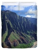 Na Pali Coast Aerial Duvet Cover