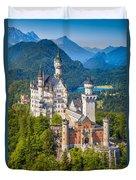 Neuschwanstein Fairytale Castle Duvet Cover