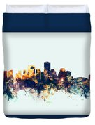 New Orleans Louisiana Skyline Duvet Cover