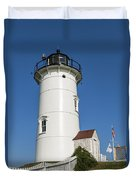 Nobska Point Lighthouse Duvet Cover