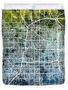 Omaha Nebraska City Map Duvet Cover