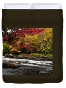 Ontario Autumn Scenery Duvet Cover
