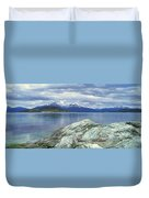 Panoramic View Of Ushuaia, Tierra Del Duvet Cover