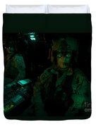 Pilots Equipped With Night Vision Duvet Cover