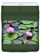Pink Water Lily Series Duvet Cover