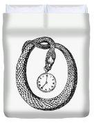 Pocket Watch, 19th Century Duvet Cover