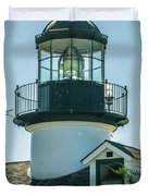 Point Pinos Lighthouse In Monterey California Duvet Cover