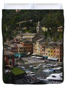 Portofino In The Italian Riviera In Liguria Italy Duvet Cover
