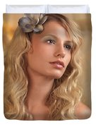 Portrait Of A Beautiful Young Woman Duvet Cover by Oleksiy Maksymenko