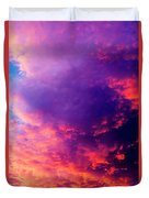Red Cloudscape At Sunset. Duvet Cover