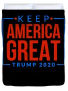 Reelect Trump For President Keep America Great Dark Duvet Cover