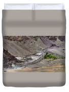 Rocky Landscape Of Leh City Ladakh Jammu And Kashmir India Duvet Cover