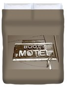 Route 66 - Boots Motel Duvet Cover