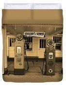 Route 66 - Soulsby Station Pumps Duvet Cover