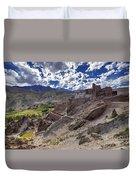Ruins At Basgo Monastery Leh Ladakh Jammu And Kashmir India Duvet Cover