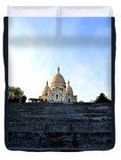 Sacre Coeur Duvet Cover by Riad Belhimer