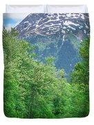 Scenic Train From Skagway To White Pass Alaska Duvet Cover