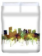Scottsdale Arizona Skyline Duvet Cover