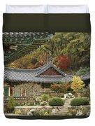 Seonamsa In Autumn Duvet Cover