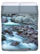 Slow Shutter Photo Of Figarella River At Bonifatu In Corsica Duvet Cover