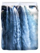 Snoqualmie Falls Washington State Nature In Daylight Duvet Cover