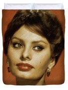 Sophia Loren, Vintage Actress Duvet Cover