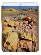 Splash Of Color In Valley Of Fire Duvet Cover