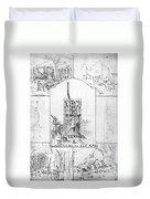 Statue Of Liberty, Paris Duvet Cover